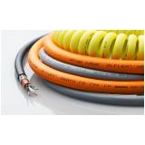 passagem de cabos de controle