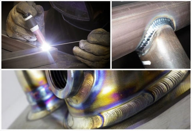 Soldas em Eletroduto de Inox Salto - Solda em Metalon de Aço Carbono